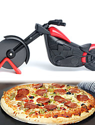 cheap -Motorcycle Pizza Cutter Stainless Steel Wheel Knife Roller Pizza Chopper Slicer Peel Knives