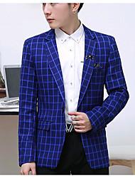 Pánské Tisk Běžné/Denní Jednoduchý Blejzr-Podzim Polyester Košilový límec Dlouhý rukáv Standardní