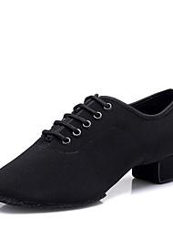 """baratos -Crianças Sapatos de Dança para Criança Oxford Salto Interior Salto Baixo Preto 1 """"- 1 3/4"""""""