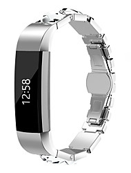 cheap -Watch Band for Fitbit Alta HR Fitbit Jewelry Design Steel Wrist Strap