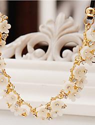 женская заявка ожерелья цветок ромашка сплав горный хрусталь природные ювелирные изделия для вечеринки ежедневно