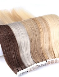cheap -Neitsi 24'' 20Pcs 50g Tape in 100% Real Human Hair Extensions Straight Skin Weft 5A Grade Piano Color