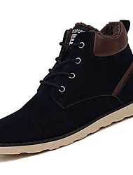 Men's Shoes Nubuck leather PU Suede Winter Comfort Fashion Boots Boots For Casual Blue Brown Black