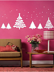 cheap -Botanical Wall Stickers Christmas Trees Decorative Wall Stickers,Bonded Material Home Decoration Wall Decal