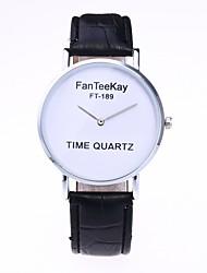 abordables -Hombre / Mujer Reloj de Moda / Reloj de Pulsera Chino Gran venta PU Banda Casual / Minimalista Negro / Blanco / Marrón
