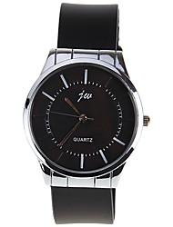 cheap -Men's Women's Quartz Wrist Watch Chinese Hot Sale Silica Gel Alloy Band Charm Fashion Black