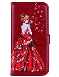 abordables -Coque Pour Xiaomi Redmi Note 4 Redmi 4X Porte Carte Clapet Motif Relief Femme Sexy Brillant Dur pour