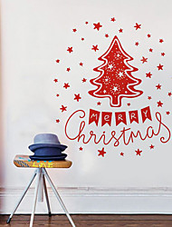 Christmas Wall Stickers Painting Brushes Decorative Wall Stickers,Bonded Material Home Decoration Wall Decal
