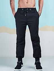 abordables -Homme Joggings Chino Pantalon - Ruché, Couleur Pleine