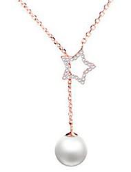 abordables -Femme Etoile Strass Perle imitée Imitation de perle Imitation Diamant Pendentif de collier  -  Classique Mode Or Argent Colliers Tendance
