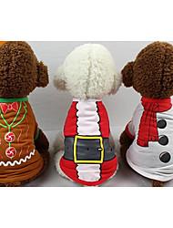 preiswerte -Katze Hund T-shirt Weste Hundekleidung neu Lässig/Alltäglich warm halten Weihnachten Buchstabe & Nummer Weiß Rot Kostüm Für Haustiere