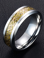 cheap -Men's Band Rings , Metallic Fashion Titanium Steel Circle Jewelry For Wedding Daily