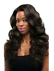 cheap -Remy Human Hair Lace Front Wig Chinese Hair Body Wave With Baby Hair 130% Density 100% Virgin African American Wig Natural Hairline Medium