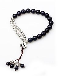 cheap -Women's Onyx Strand Bracelet - Vintage Cute Circle Dark Blue Bracelet For Gift Going out