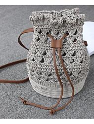 cheap -Women's Bags Cotton Shoulder Bag Pocket Gray / Brown / Dark Brown