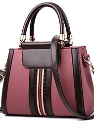 preiswerte -Damen Taschen PU Tragetasche Reißverschluss für Normal Alle Jahreszeiten Blau Schwarz Rote Rosa Grau