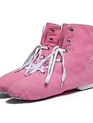 "cheap -Kids' Jazz Canvas Full Sole Sneaker Professional Trim Flat Heel Pink Blue Green Red Almond Under 1"" /"