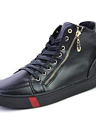 preiswerte -Herrn Schuhe PU Frühling Herbst Komfort Stiefel für Draussen Weiß Rot