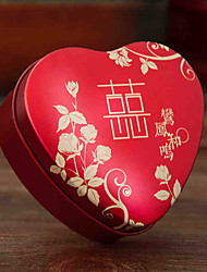 cheap -Heart Metal Favor Holder with Pattern / Print Home Decroration - 1pc