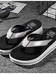 cheap -Women's Shoes Leatherette Rubber Summer Comfort Slippers & Flip-Flops for Gold Black Silver