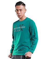 Per uomo T-shirt da corsa Manica lunga Allenamento Fitness Felpa per Corsa Esercizi di fitness Cotone Nero Verde militare Grigio S M L XL