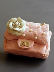 Kids Bags PU Shoulder Bag Beading Flower(s) for Casual All Season Blue Black Blushing Pink Yellow Fuchsia