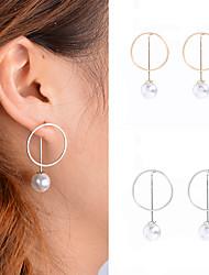 Hoop Earrings Dangle Earrings Imitation Pearl Obsidian Pearl Imitation Pearl CopperDangling Style Pendant Imitation Pearl Fashion