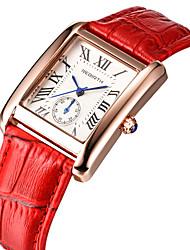 Hombre Mujer Reloj Casual Reloj de Moda Reloj de Pulsera Chino Cuarzo Resistente al Agua Piel Banda Vintage Casual Elegant Negro Blanco