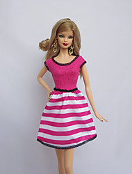 cheap -Party/Evening Dresses For Barbie Doll Fuschia For Girl's Doll Toy