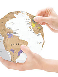 Scratch Map Scratch Off Map of the World for Travelers Toys Globe Map 3D Kids Adults' 1 Pieces