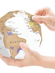 Недорогие -Карты Scratch Map Шары карта 3D Бумага Мальчики Девочки Игрушки Подарок