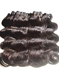 Недорогие -Натуральные волосы Реми Бразильские волосы Человека ткет Волосы Наращивание волос 8 ед. Черный