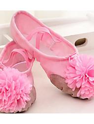 cheap -Kids' Ballet Fabric Flat Practice Platform Pink Red Black White