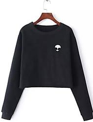 preiswerte -Damen Pullover Festtage Ausgehen Lässig/Alltäglich Buchstabe Rundhalsausschnitt Mikro-elastisch Polyester Lange Ärmel Frühling Herbst