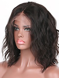cheap -Bob Water Wave Lace Front Wigs Brazilian Human Hair Wigs  Glueless Lace Front Wigs 8-30Inch  Virgin Hair Wigs with Baby Hair