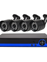 cheap -4 CH Security System with 4ch 1080N AHD DVR 41.0MP Weatherproof Cameras with Night Vision