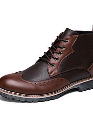 Masculino sapatos Pele Real Couro Couro Ecológico Outono Inverno Botas de Montaria Botas da Moda Botas de Moto Curta/Ankle Coturnos