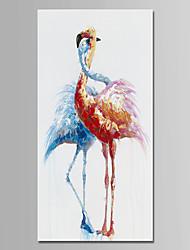 Недорогие -Hang-роспись маслом Ручная роспись - Животные Животные Modern холст