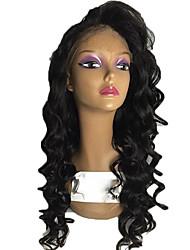 Недорогие -Натуральные волосы Лента спереди Парик Бразильские волосы Крупные кудри Стрижка каскад Стрижка боб С пушком Необработанные 100%