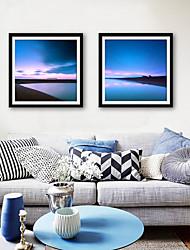 baratos -Paisagem Lazer Ilustração Arte de Parede,PVC Material com frame For Decoração para casa Arte Emoldurada Sala de Estar Quarto Cozinha Sala