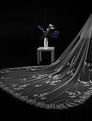 economico -2 strati Bordo tagliato Bordi in pizzo Modern Veli da sposa Velo lungo (con strascico) Accessori per capelli Con Con applique Di pizzo