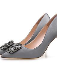 preiswerte -Damen Schuhe Seide Frühling Herbst Pumps High Heels Spitze Zehe Strass Für Hochzeit Party & Festivität Schwarz Grau Rot Hautfarben