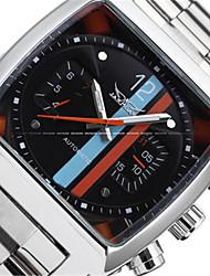 abordables -Jaragar Hombre Reloj Casual Reloj de Moda Reloj de Vestir Reloj de Pulsera Cuerda Automática Acero Inoxidable Banda Casual Cool