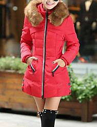Hot! Fashion Design M-4XL Plus Size Winter Women Parka Outerwear Duck Down Jacket With Large Fur Collar Plus Thickening Long Coat down jacket for girl