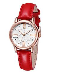 levne -WWOOR Dámské Náramkové hodinky Hodinky k šatům Módní hodinky Hodinky na běžné nošení Křemenný Kalendář Pravá kůže Kapela Na běžné nošení