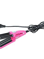 220 v bigoudi fer à friser perm céramique glaçure revêtement tuyau rouleau beauté outil rose
