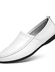 cheap -Men's Shoes Leather Spring / Summer Driving Shoes Loafers & Slip-Ons Black / Yellow / Dark Brown