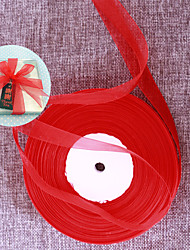 cheap -Width 1.5cm Length 91m - Red Organza Ribbon Beter Gifts® DIY Door Gifts Packaging Materials