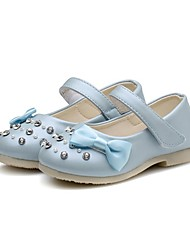 cheap -Girls' Shoes Leatherette Spring / Fall Comfort / First Walkers / Flower Girl Shoes Flats Rhinestone / Bowknot / Sparkling Glitter for