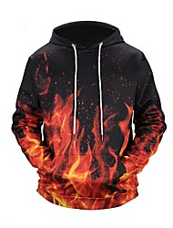 Men's Plus Size Daily Sports Active Street chic Punk & Gothic Hoodie Print V Neck Hoodies Micro-elastic Polyester Long Sleeve Spring/Fall
